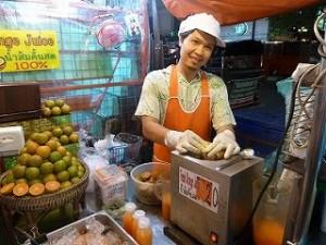 手作りオレンジジュース