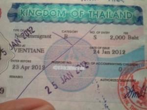 ビザの貼られたパスポートをゲット