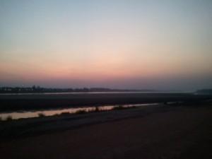 ビエンチャンから見るメコン川